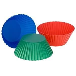 MIU Standard-Size Silicone Cupcake Baking Cups, 12-Pack