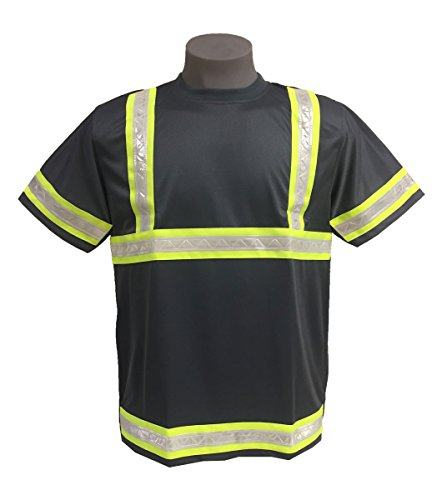 Incentex Safety Gear Men's Mesh Reflective T-Shirt Grey/Green Large