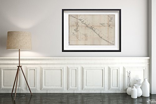 1853 Map of Washington D.C Republic of Liberia United States, Navy Department. (Author)|Vintage Fine Art Reproduction|Ready to Frame ()