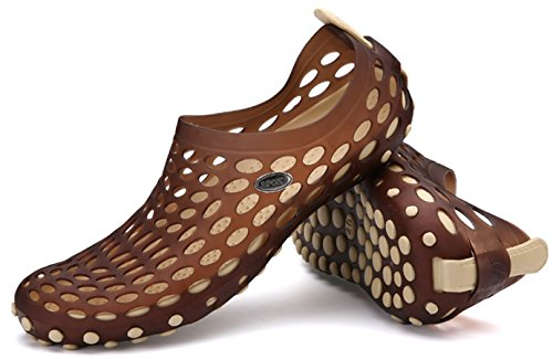 Shoes katliu Shoes Breathable Sandals Water Drying Aqua Womens on Beach Mens Beach Slip Quick Brown Summer 4rSIw4q