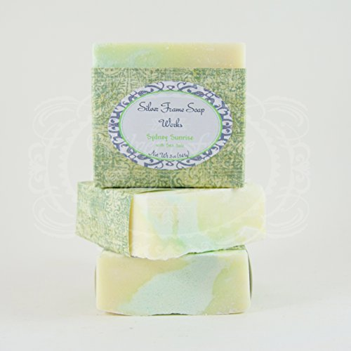 Sydney Bath (Sydney Sunrise Sea Salt Soap - Made with Sea Salt and Essential Oils - 5oz Bar with Ylang Ylang, Cedarwood and Lavender)