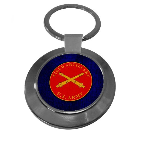 Premium Key Ring with U.S. Army Field Artillery, branch plaque (Field Artillery Branch)