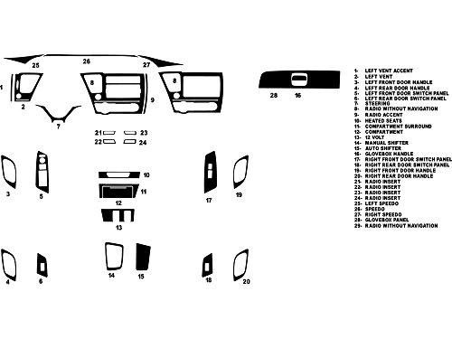 Rdash Dash Kit Decal Trim for Honda Civic 2013-2015 (Sedan) - Carbon Fiber 4D (Black) (Honda Civic Carbon Fiber Dash Kit compare prices)