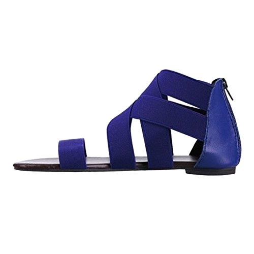 Estive Scarpe Toe da Scarpe Sandali 42 wuxi Sandali Donna Scarpe Boho Moda Estive Cerniera Piattos Casual Romani Spiaggia Scarpe Scarpe Peep 0p6qY