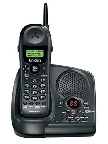 Uniden EXAI 978 900 MHz Cordless Phone with Answering System and Caller ID (Black)