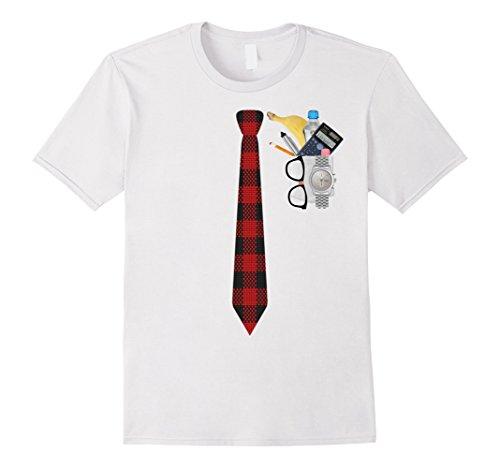 Mens Halloween Nerd Costume T Shirt Funny Geek XO4U Original XL White -