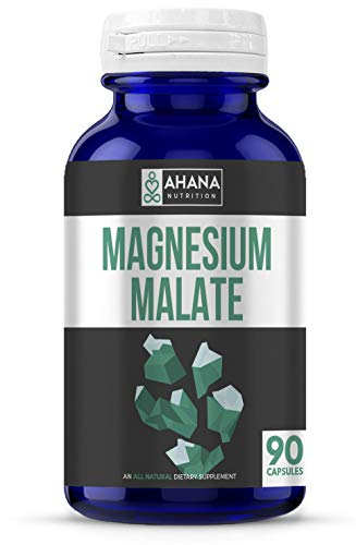 Pure Magnesium Malate – Muscle Support and Energy Supplements (1,350mg – 90 Capsules) For Sale