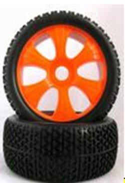 HSP - Ruedas Coche RC Buggy 1/8 Universales Naranjas - SST180028: Amazon.es: Juguetes y juegos