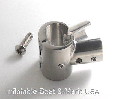 Ballistic Inflatables USA Boat Hand Rail Fitting- 90 Degree T/Tee Hinged/Split - 1