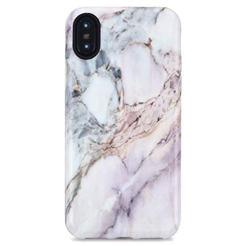 Series Marble Value (iPhone X Case/iPhone XS Case, GOLINK Marble Series Slim-Fit Ultra-Thin Anti-Scratch Shock Proof Dust Proof Anti-Finger Print TPU Gel Case for iPhone X/iPhone XS - Line Marble III)