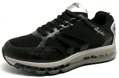 Australian Herren Sneaker Schwarz Schwarz 36