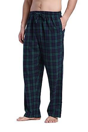 CYZ Men's 100% Cotton Super Soft Flannel Plaid Pajama Pants-F17009-S