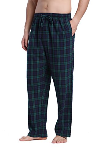 CYZ Men's 100% Cotton Super Soft Flannel Plaid Pajama Pants-F17009-M