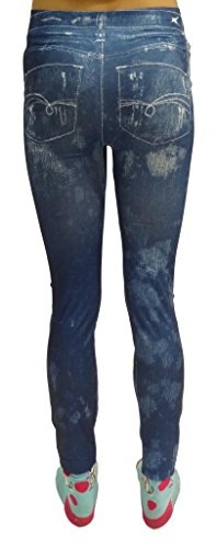pantacollant Donna Skinny Jeans In Da 10 Blue Tessuto Sexy 8 12 Oe Sottile 14 qw6Wf1