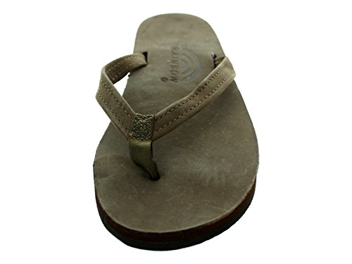 Single Narrow Leather Rainbow Sandals Premier Brown Dark Layer qHx7zw