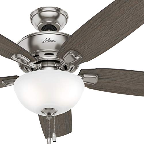 Hunter Fan 52 inch Casual Brushed Nickel Finish Ceiling Fan with LED Lights (Renewed)