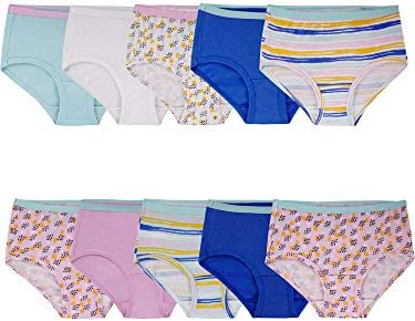 Fruit of the Loom Girls' Cotton Brief Underwear