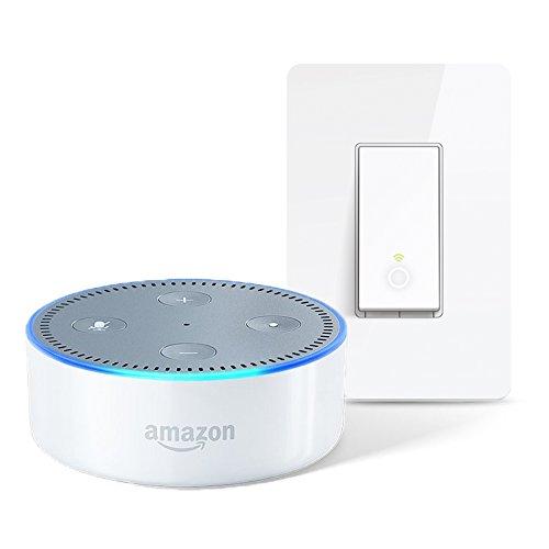 Echo Dot - White + TP-Link Wi-Fi Light Switch (Echo Dot +...