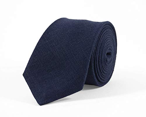4a3116567b12 Dark blue linen mens wedding necktie for groomsmen available with matching  pocket square/navy blue bow ties for men and toddler boys/unique gift for  father ...