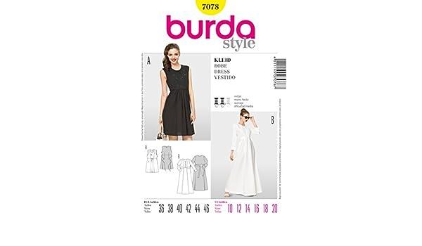 Burda patrón e instrucciones para hacer vestidos de encaje y poner ...