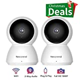 [2 Pack] 1080P WiFi Camera, NexTrend 1080P Wireless Security Camera with 2-Way Audio, Indoor Security Camera with Night Vision no Monthly Fee, Easy Remote Access for Baby Monitor, Pet Camera
