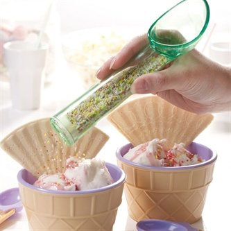 Cuchara de helado con dispensador de fideos de colores
