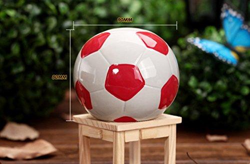 Eoamlk Hucha con forma de balón de fútbol, ideal para regalar a ...