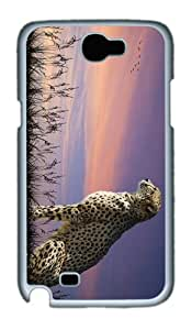 cover good cheetah animal PC White case/cover for samsung galaxy N7100/2