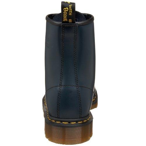 Dr. Martens Frauen 1460 Black Patent Lamper Stiefel Navy Glattleder