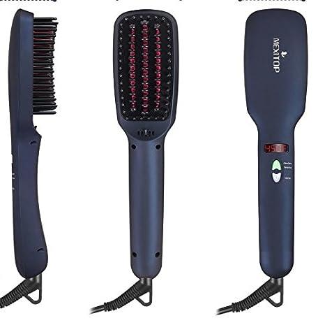 Original de 2 en 1 Alisador de cabello Cepillo, iones cerámica glättung Cepillo eléctrico glättb