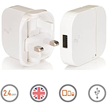 Portable Charger by Mu | British Tablet Charger | Universal Adapter iPhone Charger for All Smart Phones and Tablets