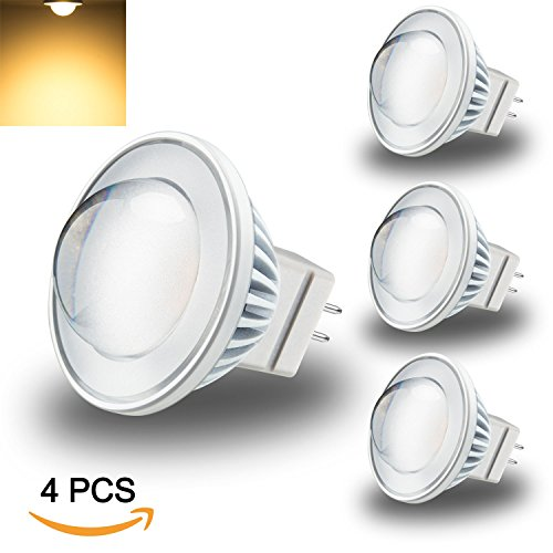 LEKE 3W MR11 LED Bulb GU4 Base Spot Light Bulb Warm White 2700K 250lm 12V AC/DC 20W-30W Halogen Light Bulb Equivalent 60°Beam Angle(4 Pack) - 12v Ac Halogen Spot