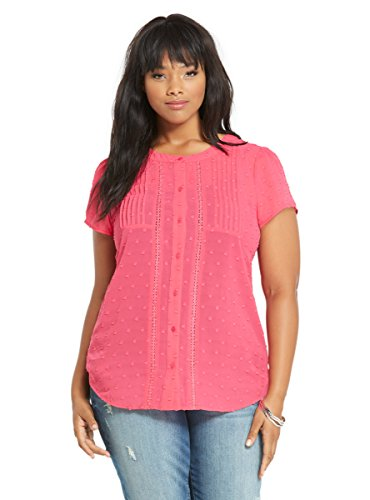 Textured Chiffon Button Up Top