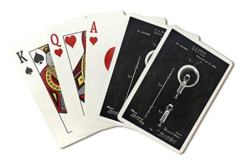 Blackboard Patent - Light Bulb (Playing Card Deck - 52 Card Poker Size with Jokers) by Lantern Press