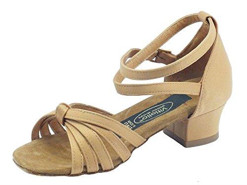 tacco 2cm l Dance de Vitiello Tanganica a Sandalo Shoes fille salon tanganica Dance raso w08q01tF