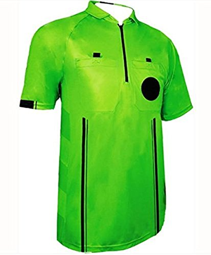 1 Stop Soccer New Mens Soccer Pro Referee Jersey Green