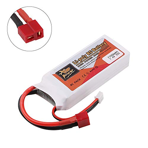 Innovateking 2200mAh 7.4V 35C 2S LiPo Battery T Plug Deans Connector for RC Car Airplane Helicopter DIY Part