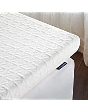 Inofia Mattress Topper, ECOGRREN 6CM Memory Foam Mattress Topper with Washable Tencel Cover, Dual Layer to Soften Any Sleep Surface -/100Night Test at NO Risk