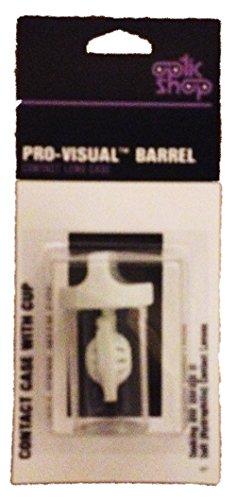 Pro-visuel Barrel Contactez Lens Case - pour le trempage et de stockage de lentilles de contact souples