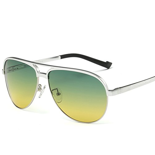espejos Hombres de sol y rana da ligera que B de espejo de muy Gafas noche conducir marco día Prevención qCrFwXC