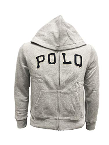 Polo Ralph Lauren Boys Sweater Hoodie, Grey Heather, Small