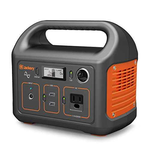 Jackery Generator Portable Power Station Explorer 240, 240Wh Emergency Backup Lithium Battery, 110V/200W Pure Sinewave AC Outlet,Solar Generator for Outdoors Camping Travel Fishing Hunting