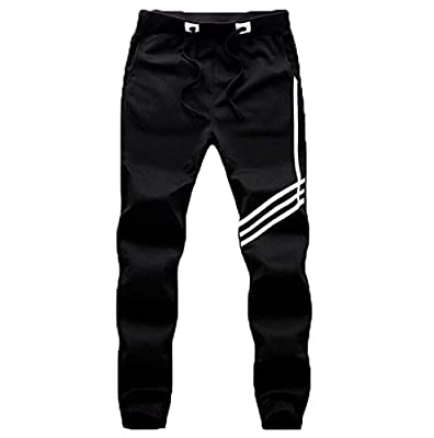 PFlex Men's Soccer Training Pants – Tapered fit Joggers– Zippered Pockets – Comfortable Sweatpants – Long lasting