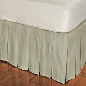 bed skirts queen box pleat cotton bed skirt 14 10699