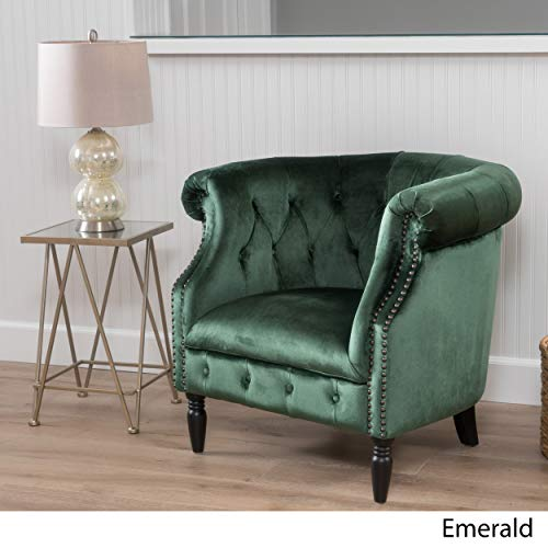 Christopher Knight Home Akira Arm Chair, Emerald