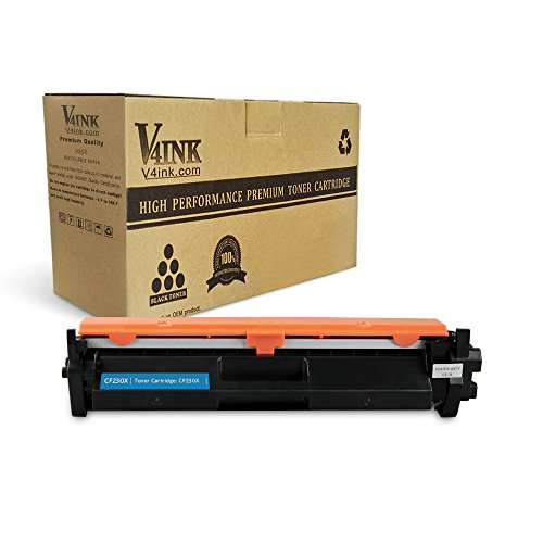 V4INK 1 Pack Compatible Replacement for 30X CF230X Toner Cartridge - for use in LaserJet M203d, M203dn, M203dw, MFP M227 series printers