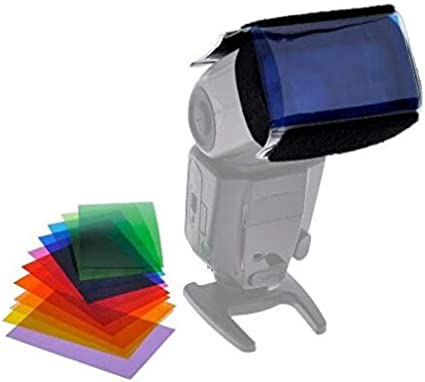 12pcs Universal Speedlite strobist gel Color Filter Kit for Camera Flash