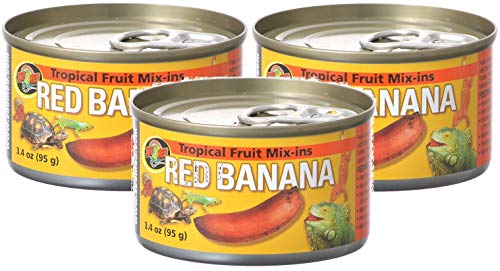 Zoo Med Tropical Fruit Mix-ins Red Banana Reptile Food, 3.4-Ounce (3 Pack)