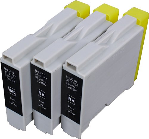3 Pack Compatible Brother LC-51 3 Black for use with Brother DCP-130-C, DCP-350-C, DCP-540-CN, Fax-1355, Fax-1360, Intellifax 1360, Intellifax 2480C, MFC-240-C, MFC-260-C, MFC-3360-C, MFC-440-CN, MFC-465-CN, MFC-5460-CN, MFC-5860-CN, MFC-665-CW, MFC-685-CW