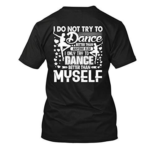 Zira Frog Ballet Dancer T Shirts, Adult Short Sleeve Tee Shirt Black,XL